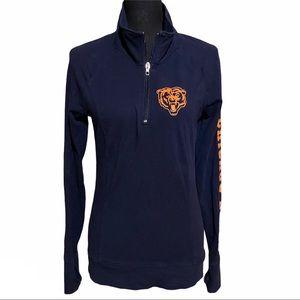 VS Pink Chicago Bears NFL Quarter Zip Sweatshirt S